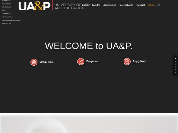 Screenshot of www.uap.asia