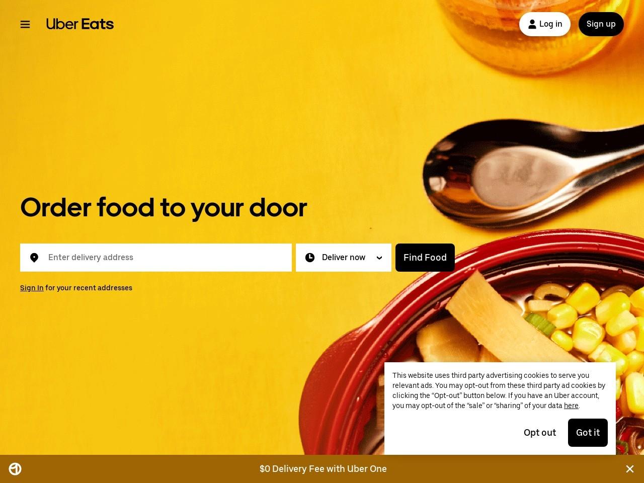 Captura de pantalla de www.ubereats.com