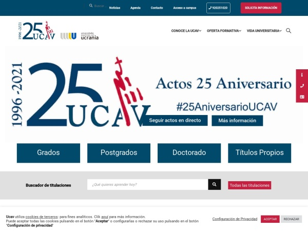 Screenshot of www.ucavila.es