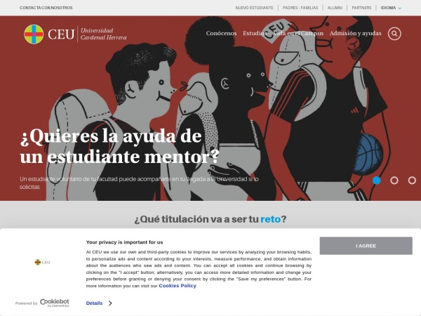 Screenshot of www.uchceu.es