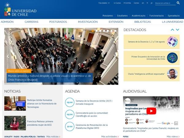 Screenshot of www.uchile.cl