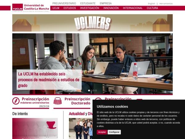 Screenshot of www.uclm.es