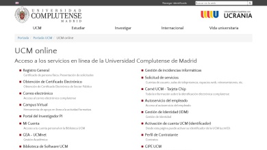 UCM online | Universidad Complutense de Madrid