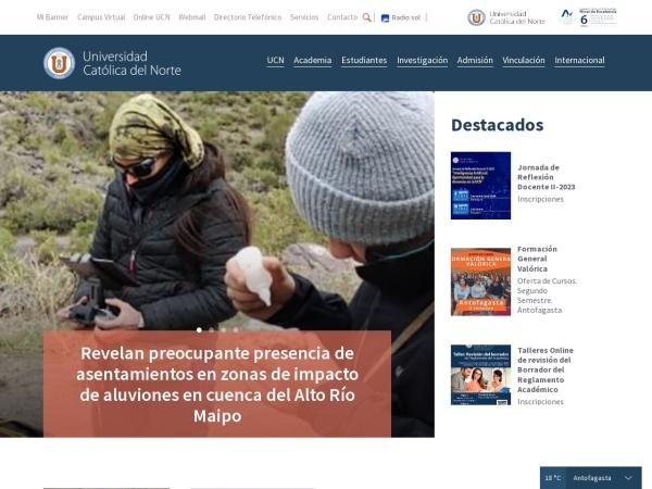 Screenshot of www.ucn.cl