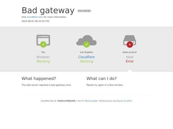 Screenshot of www.ucsal.br
