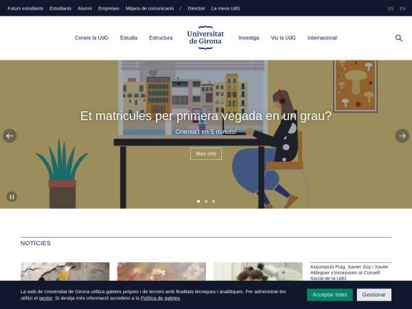 Screenshot of www.udg.edu