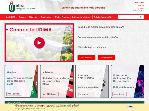 Screenshot of www.udima.es