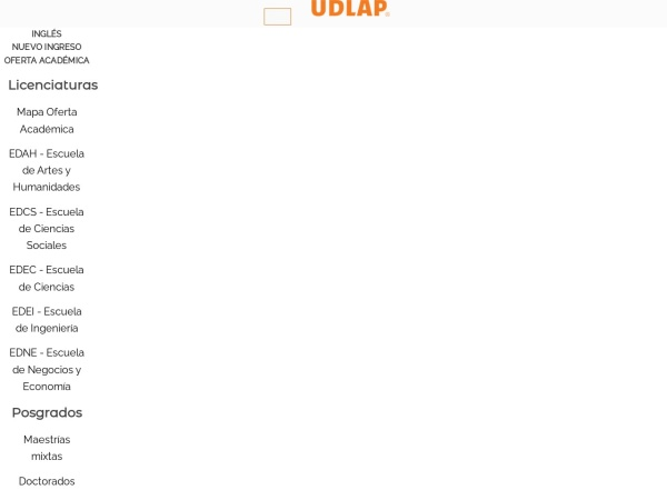 Screenshot of www.udlap.mx