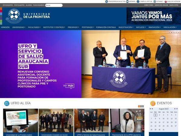 Screenshot of www.ufro.cl