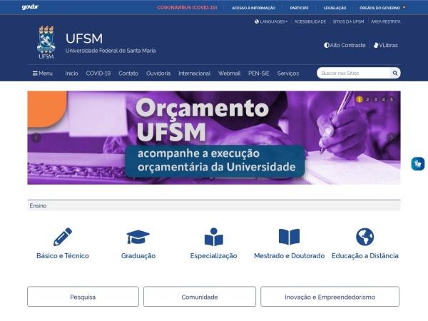 Screenshot of www.ufsm.br