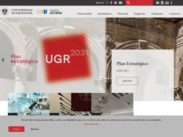 Screenshot of www.ugr.es