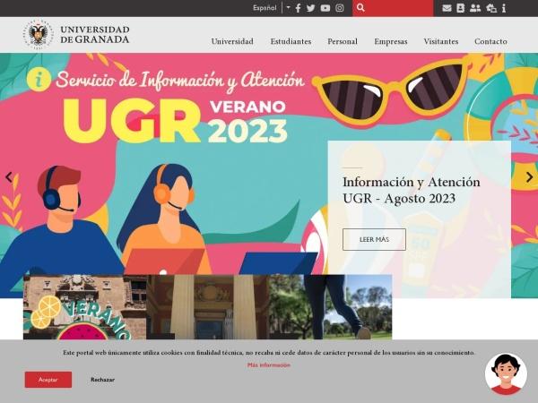 Screenshot of www.ugr.es