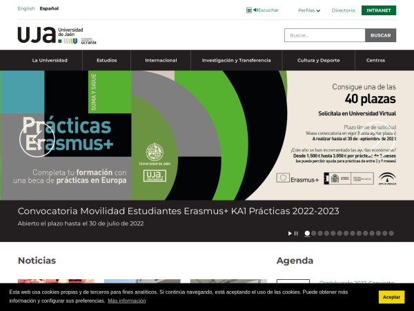Screenshot of www.ujaen.es