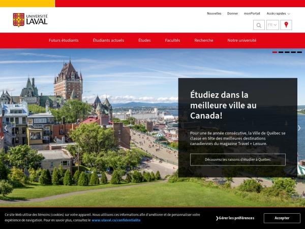 Screenshot of www.ulaval.ca