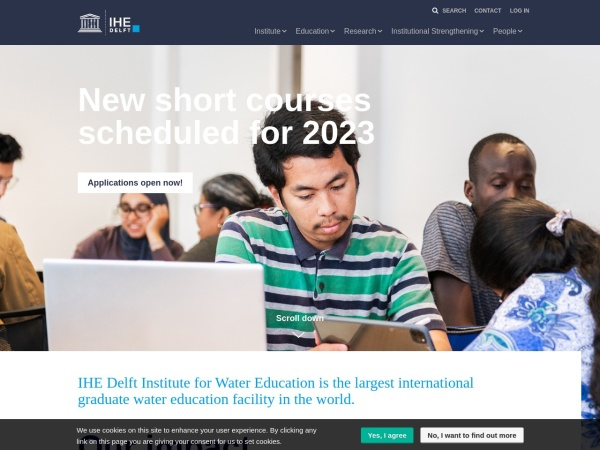 Screenshot of www.un-ihe.org