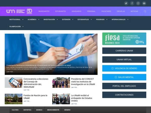 Screenshot of www.unam.edu.ar