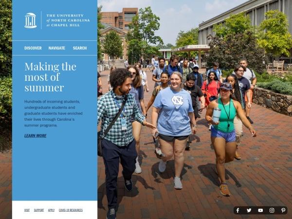 Screenshot of www.unc.edu