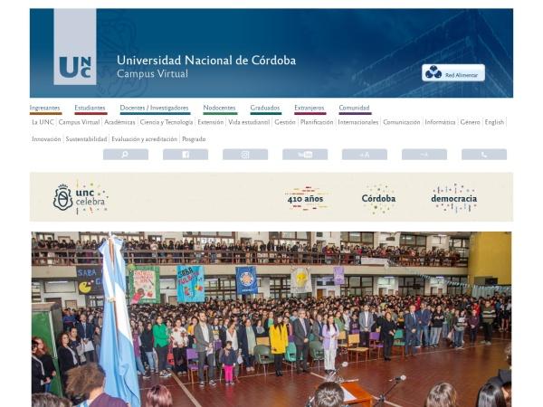 Screenshot of www.unc.edu.ar