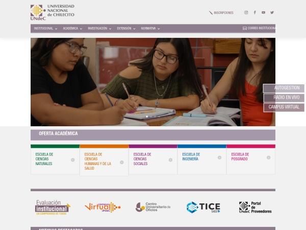Screenshot of www.undec.edu.ar