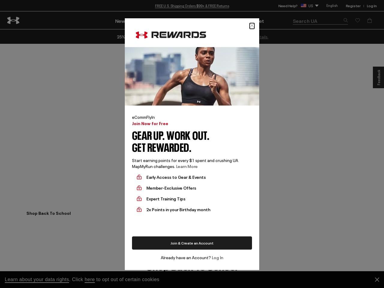 Screenshot of www.underarmour.com