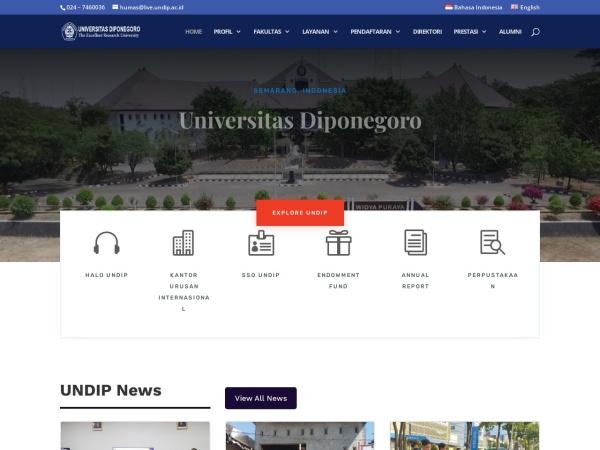 Screenshot of www.undip.ac.id