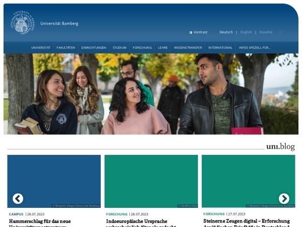Screenshot of www.uni-bamberg.de