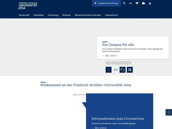 Screenshot of www.uni-jena.de