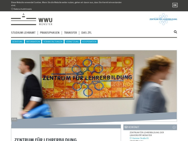 Screenshot von www.uni-muenster.de