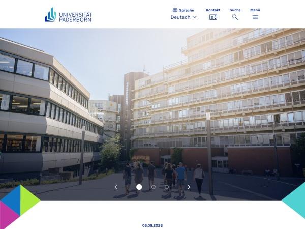 Screenshot of www.uni-paderborn.de
