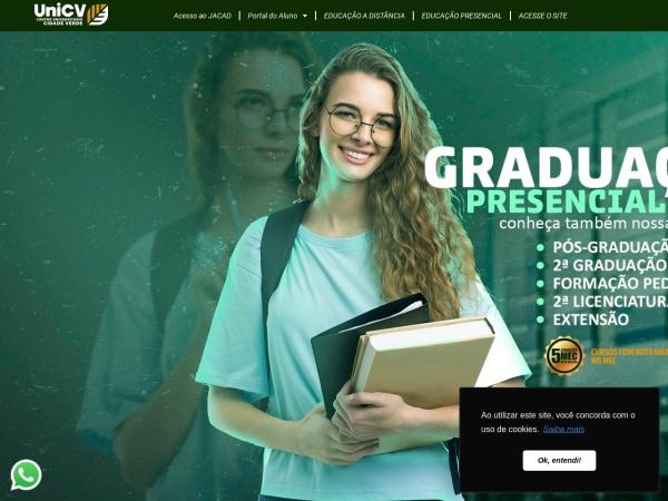 Screenshot of www.unifcv.edu.br