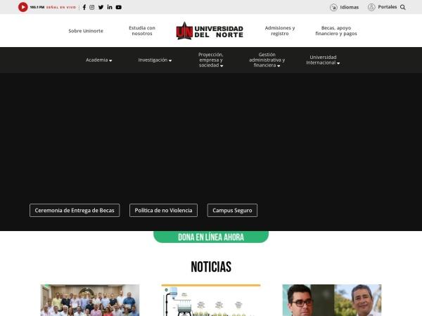 Screenshot of www.uninorte.edu.co