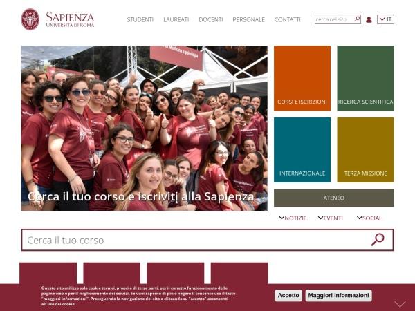 Screenshot of www.uniroma1.it