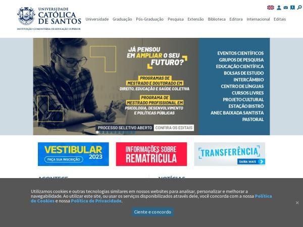 Screenshot of www.unisantos.com.br