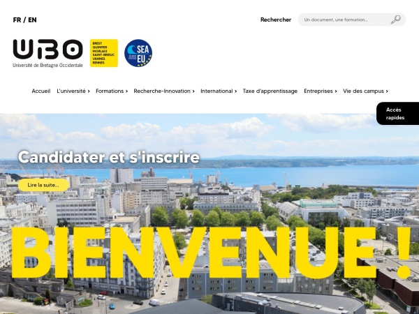 Screenshot of www.univ-brest.fr