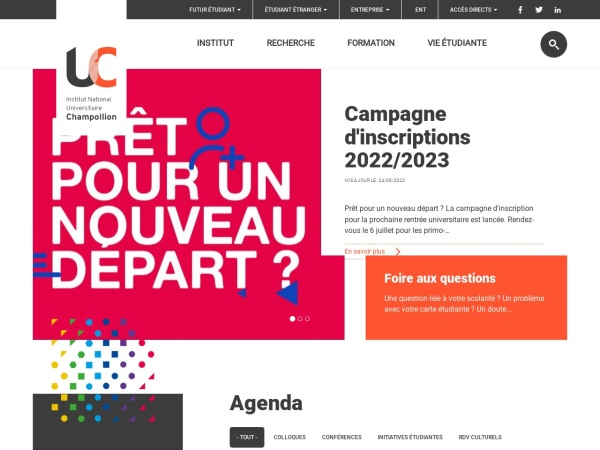 Screenshot of www.univ-jfc.fr