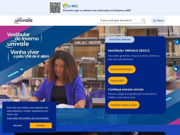 Screenshot of www.univale.br