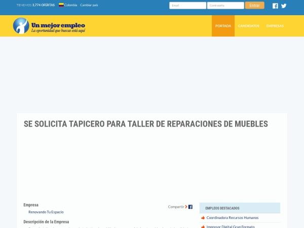 Captura de pantalla de www.unmejorempleo.com.co