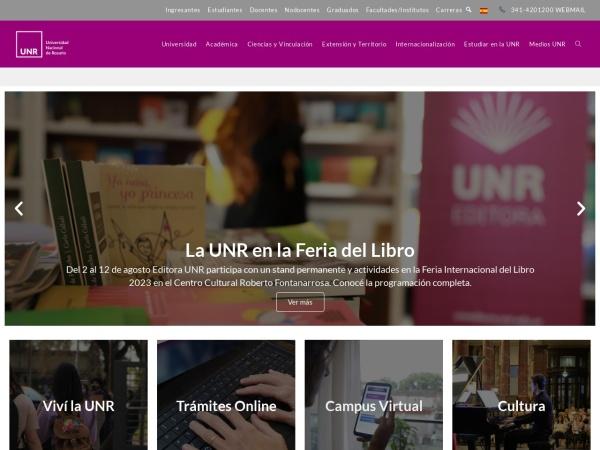 Screenshot of www.unr.edu.ar