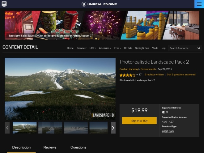 https://www.unrealengine.com/marketplace/photorealistic-mountain-pack