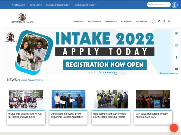 Screenshot of www.uonbi.ac.ke