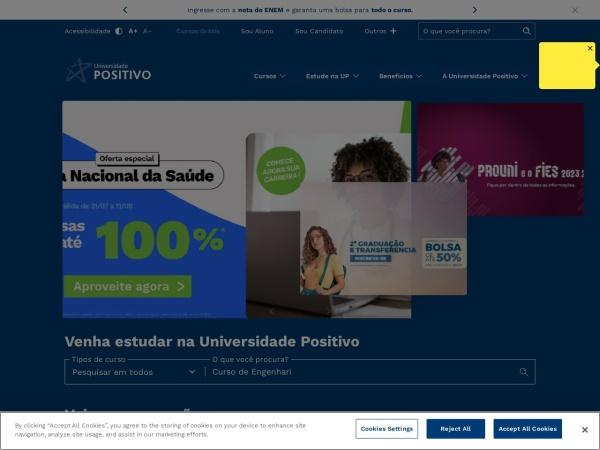 Screenshot of www.up.edu.br