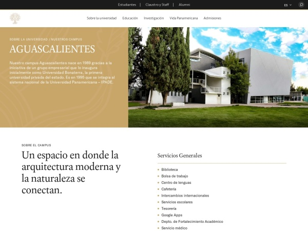 Screenshot of www.up.edu.mx