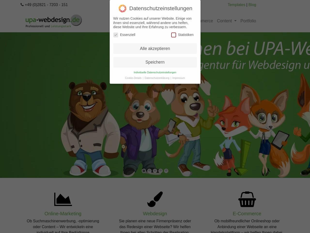 Vorschau auf UPA-Webdesign