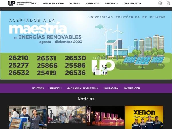 Screenshot of www.upchiapas.edu.mx