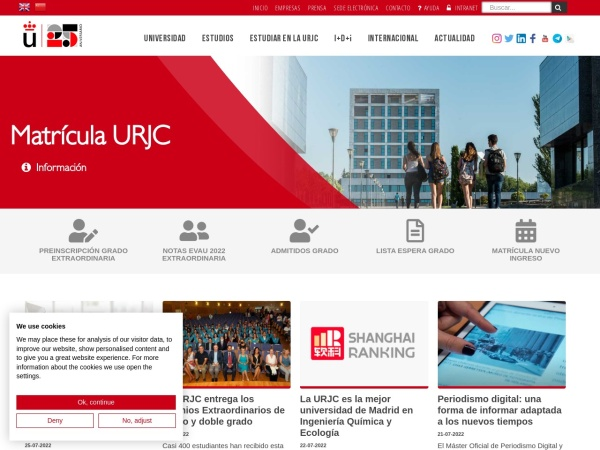 Screenshot of www.urjc.es