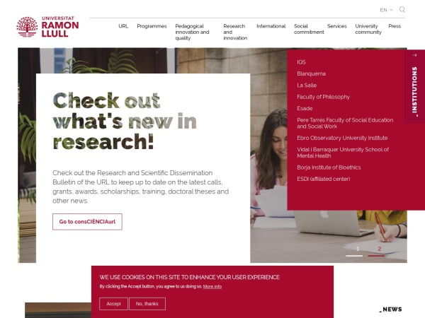 Screenshot of www.url.edu