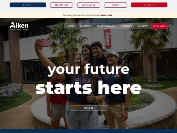 Screenshot of www.usca.edu