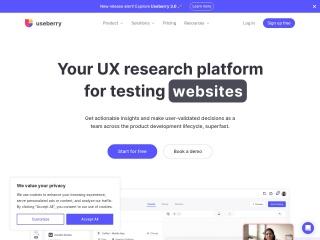 Screenshot of www.useberry.com