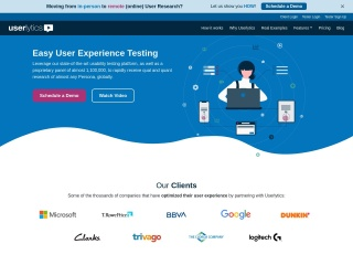 Screenshot of www.userlytics.com