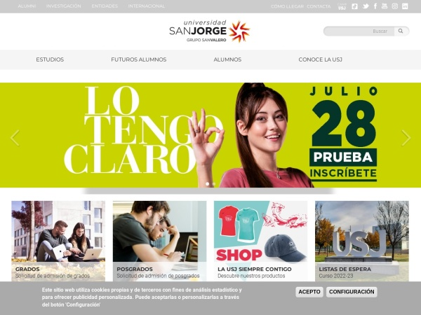 Screenshot of www.usj.es